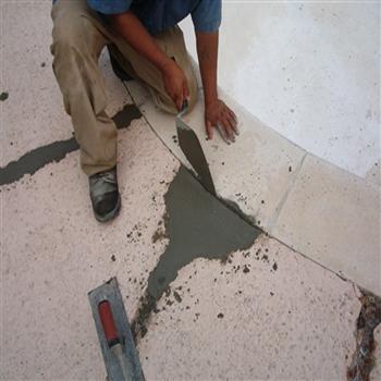 Sider Screed Trowel On Concrete Floor Repair